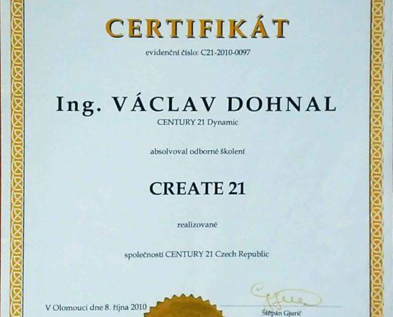 Certifikát Create 21